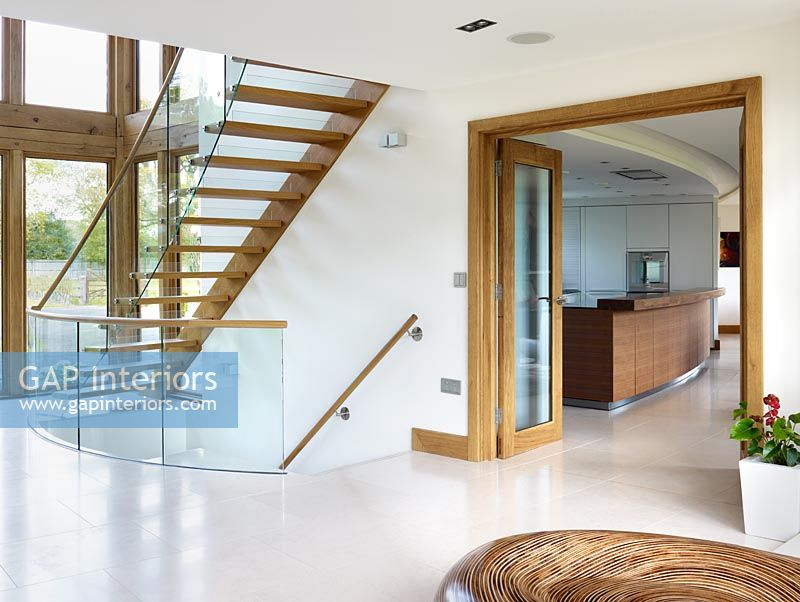 Modern hallway and staircase