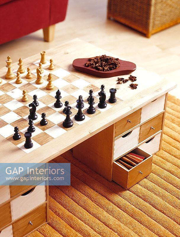 Gap Interiors Chess Board Coffee Table Image No