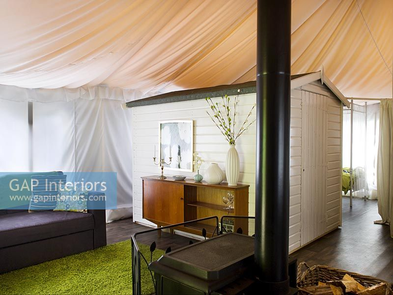 Tented living room