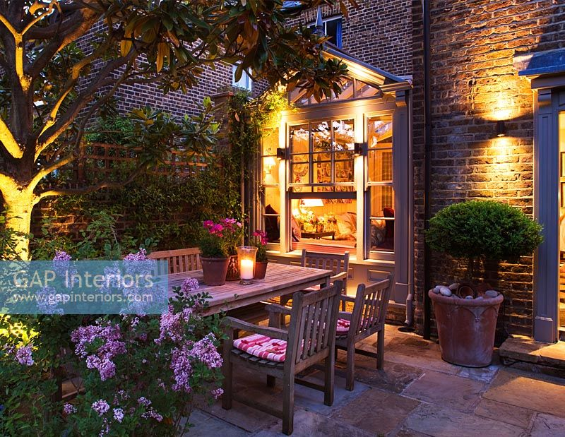 Illuminated patio
