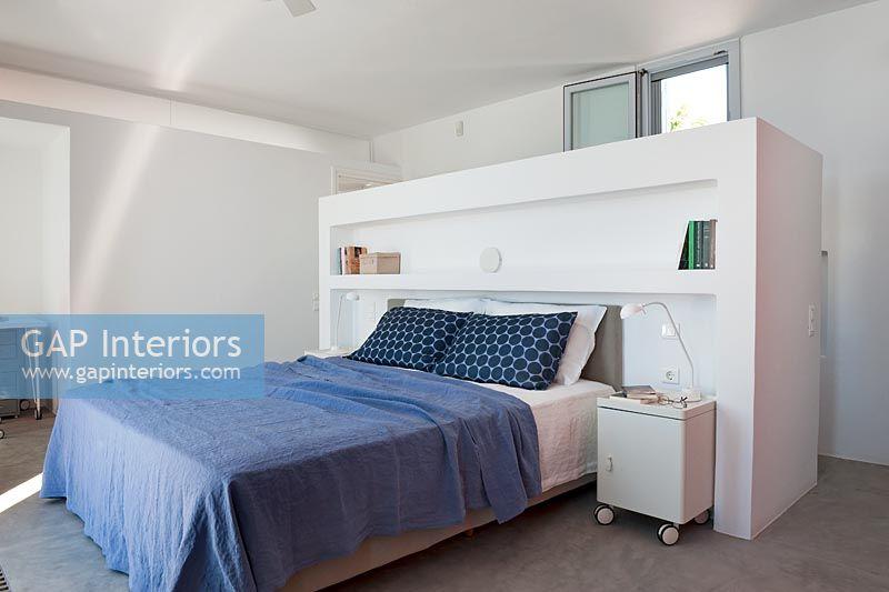 Gap interiors contemporary bedroom with open plan for Open plan bedroom bathroom