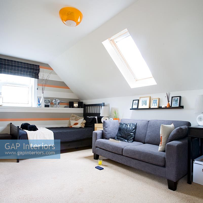 Modern spare bedroom in loft conversion