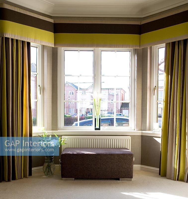 Gap Interiors Modern Curtains In Bay Window Image No