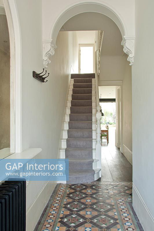 Foyer Entrance Zimbabwe : Gap interiors classic hallway with tiled floor image