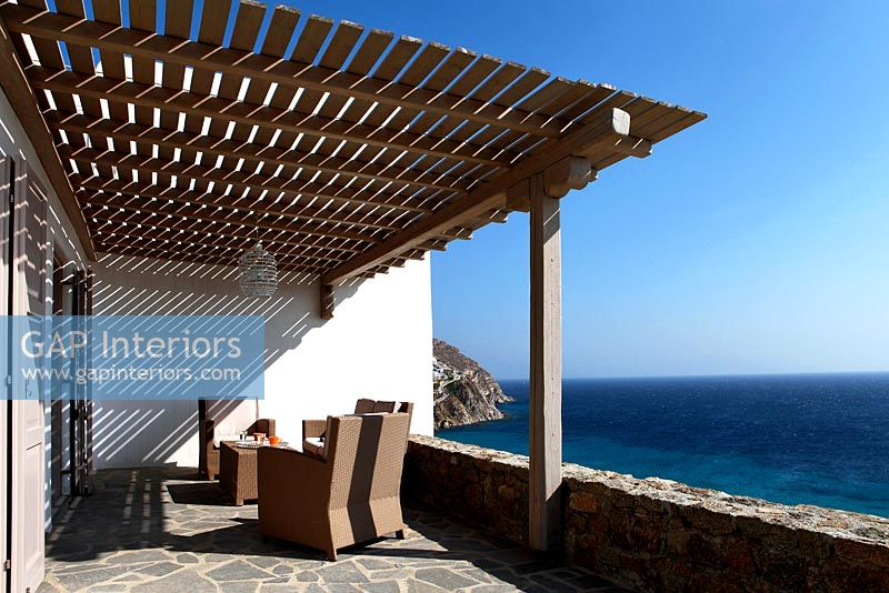 Patio with sea view, Greece