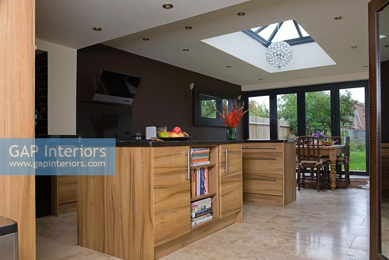 Modern open plan kitchen diner