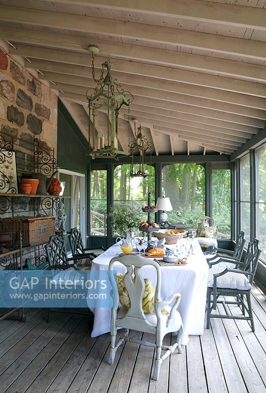 Dining area on veranda
