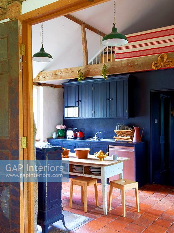 Eclectic kitchen diner