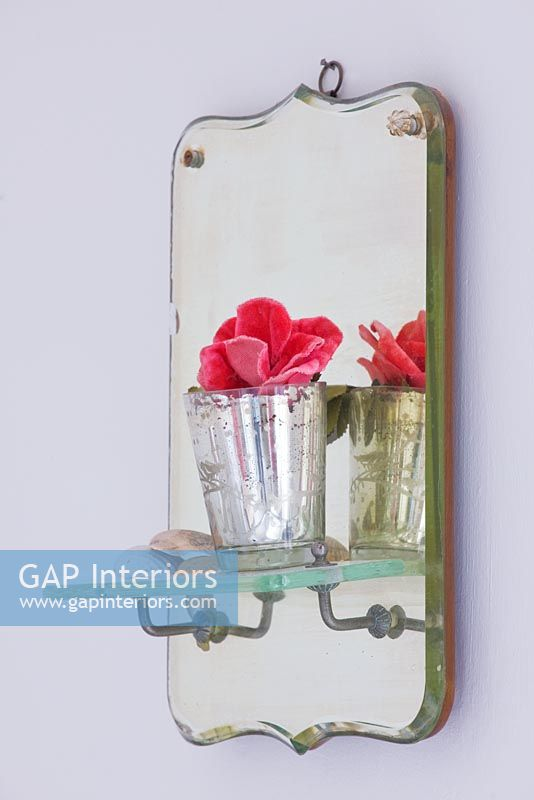 Tea light holder and french mirror