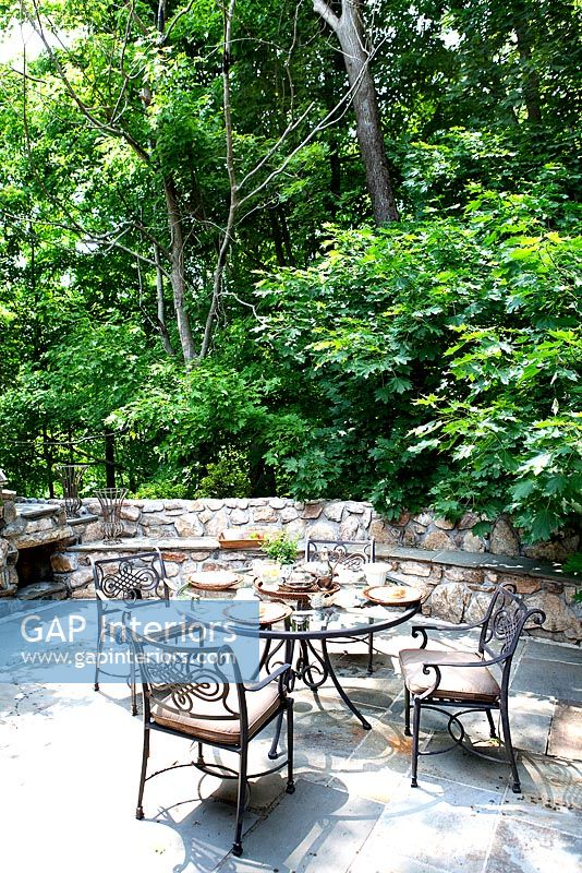 Secluded patio