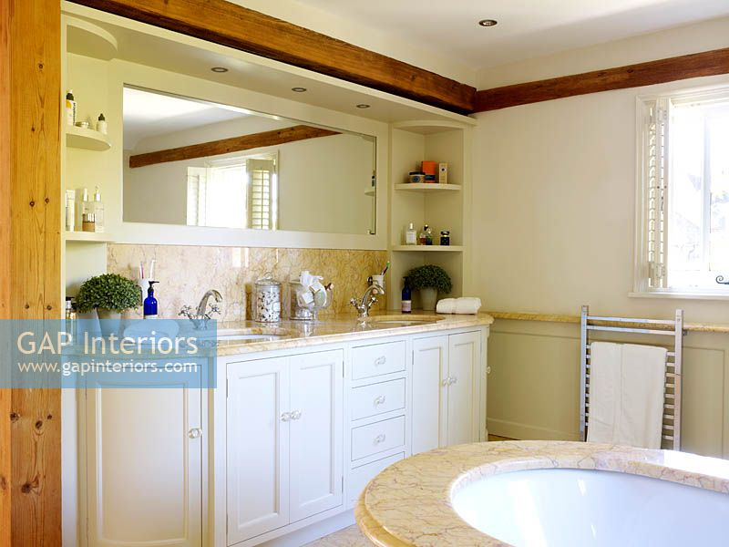 Gap Interiors White Bathroom Cabinets Image No 0135256 Photo By Rachael Smith And