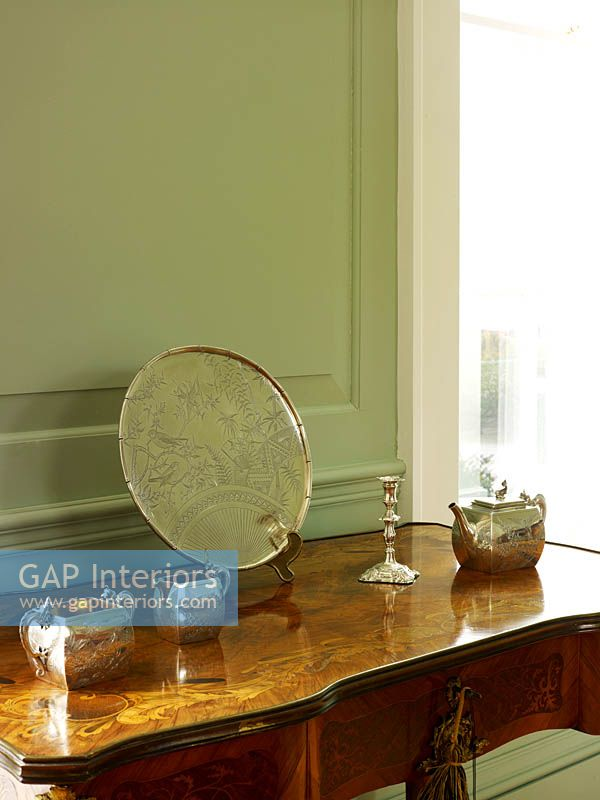 Silverware on side table