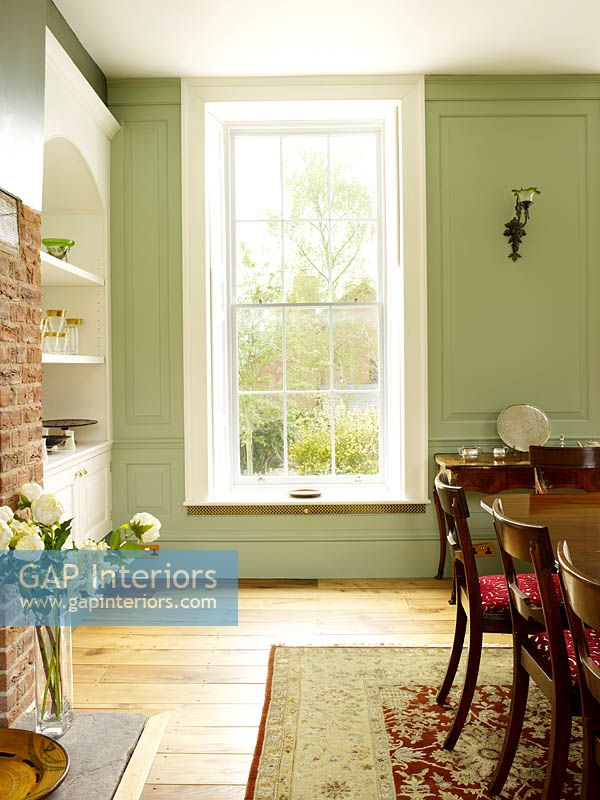 Sash window with shutters