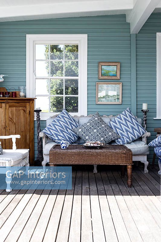 Vintage furniture on veranda