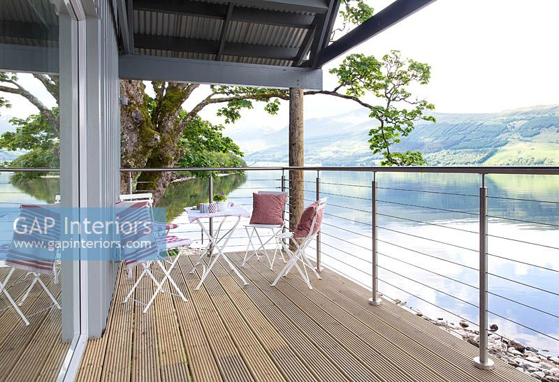 Balcony overlooking loch