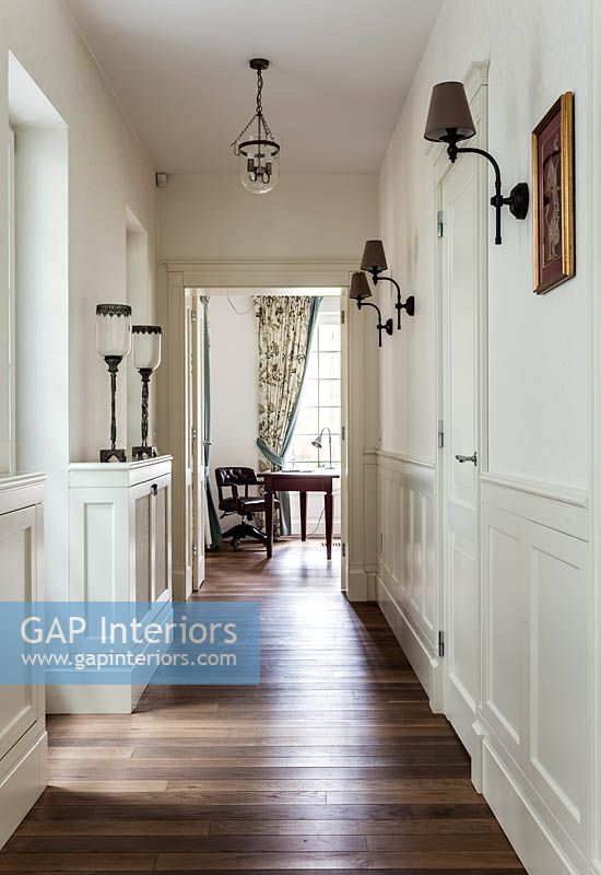 Wooden flooring in corridor