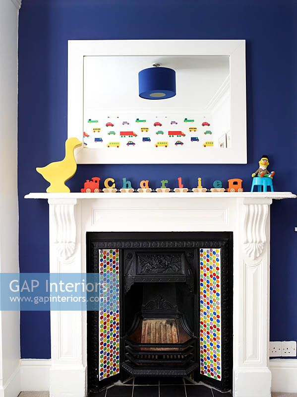 Fireplace in childs bedroom