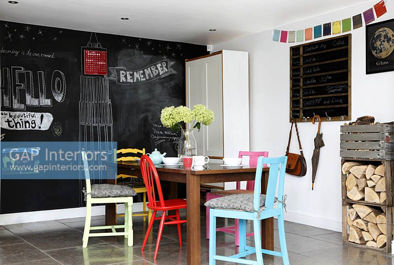 Colourful dining area