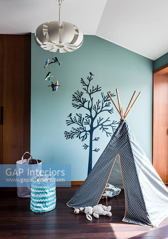 Childs play area with teepee