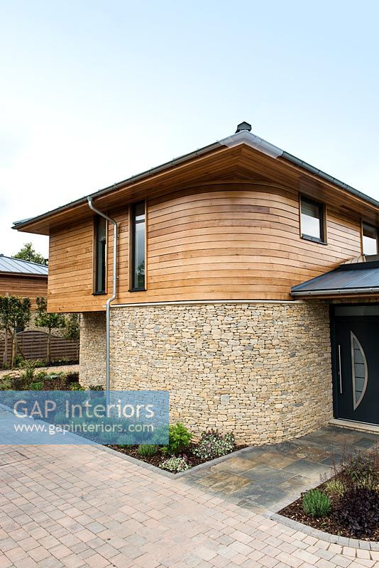 Exterior of modern self build house