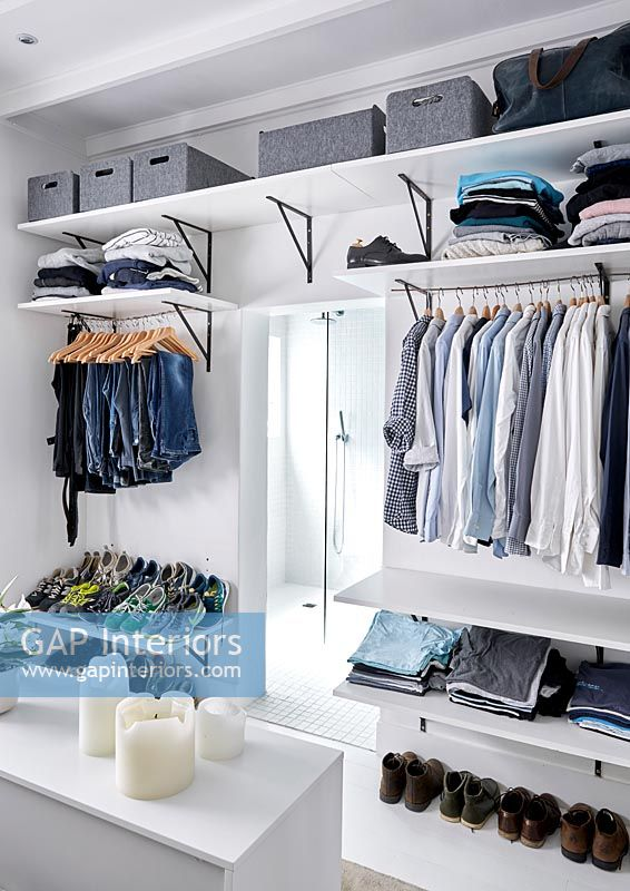 Modern walk-in wardrobe