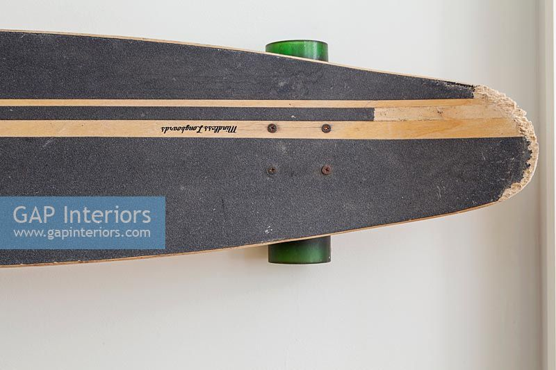 detail of skateboard