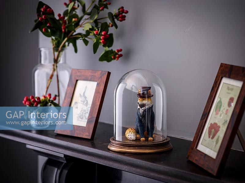Pictures on mantelpiece
