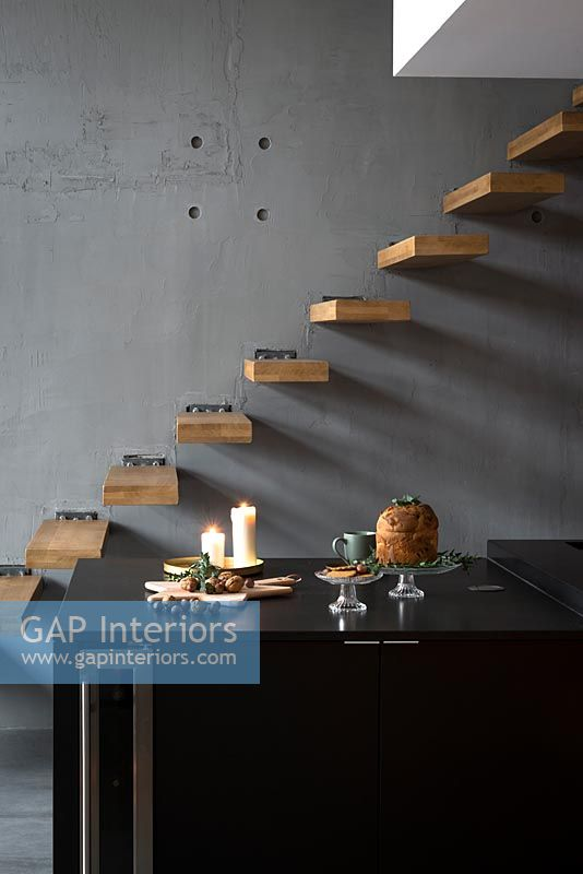Modern floating staircase