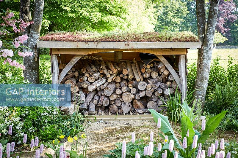 Country log pile detail
