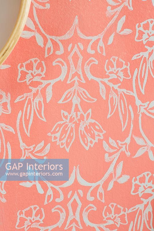 Colourful orange patterned wallpaper