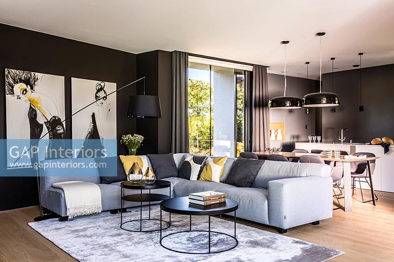 Contemporary open plan living space