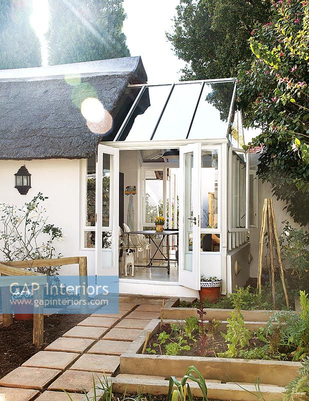 Modern small conservatory