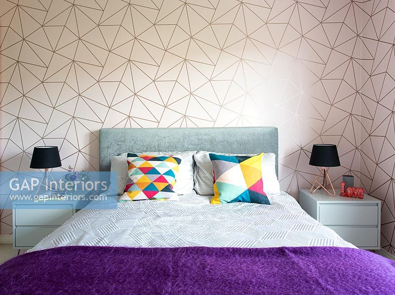 Modern purple and pink bedroom