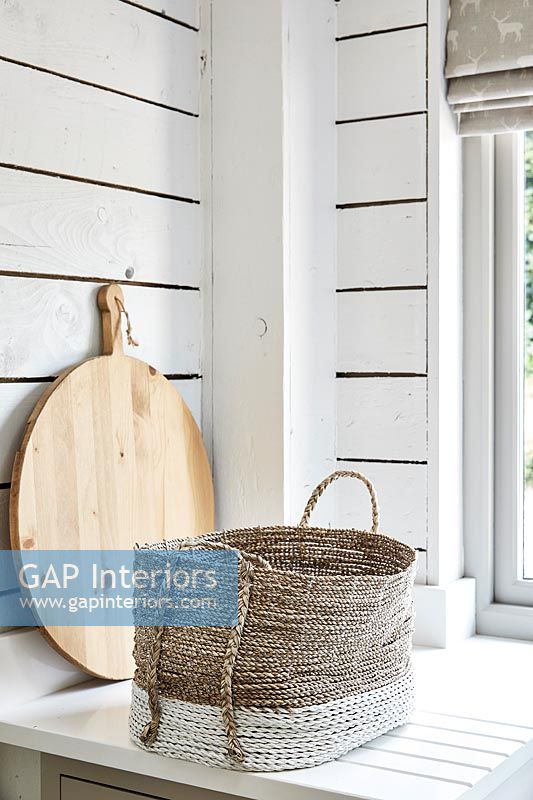 Country style rattan basket