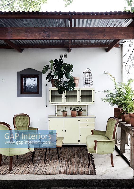 Classic furniture in summerhouse