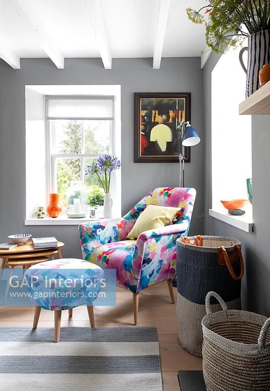 Modern colourful armchair