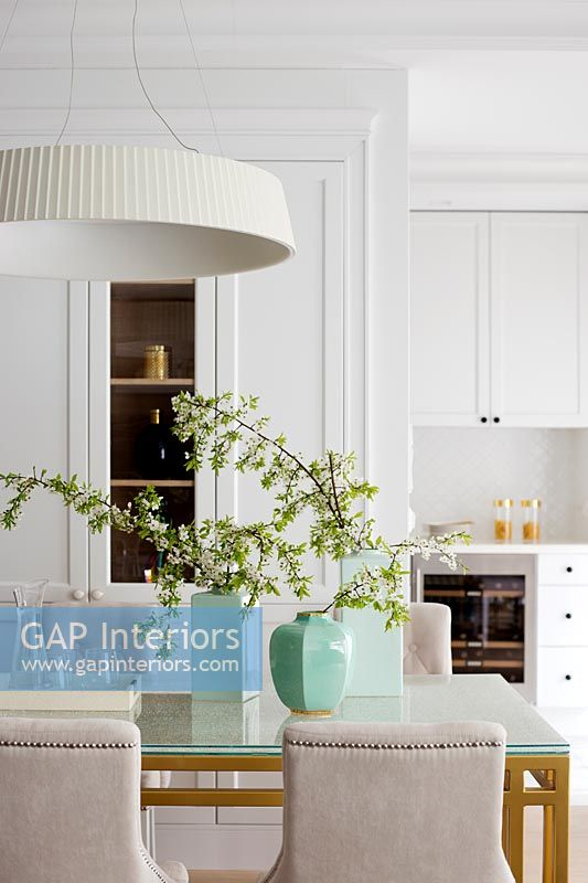Modern dining room detail