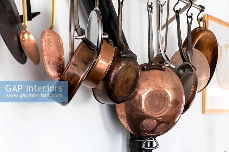 Selection of copper pans