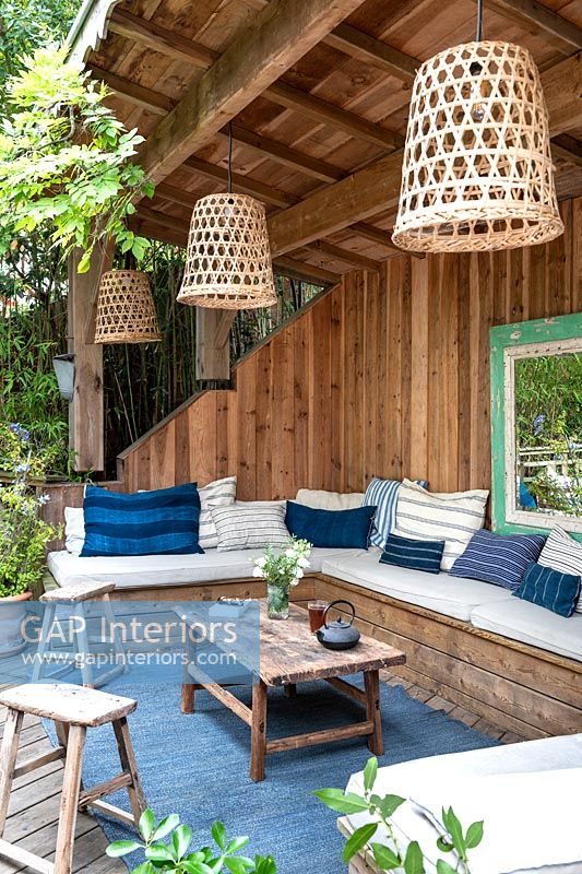 Timber structure - outdoor living room area