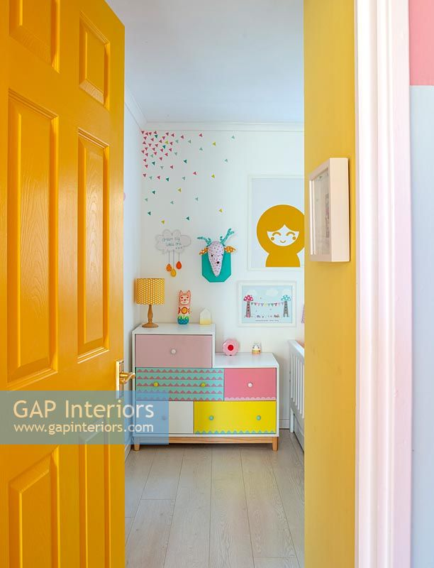 Colourful modern childrens bedroom