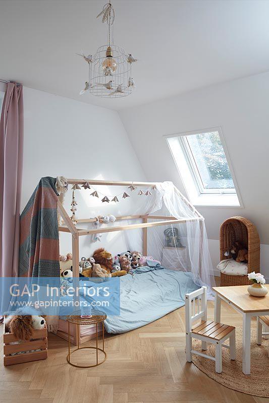 Canopy over childrens bed
