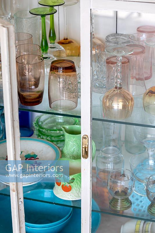 Glassware in sideboard