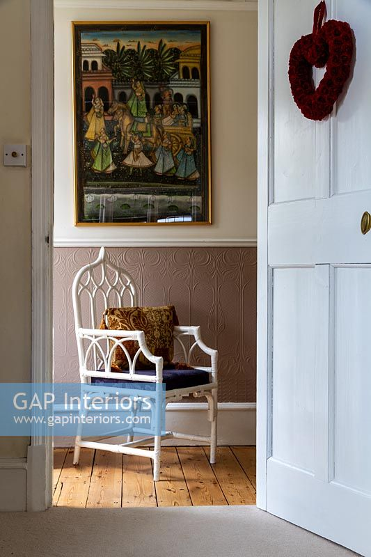 Classic armchair in classic hallway