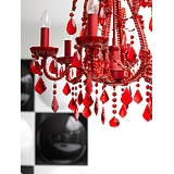 Detail of modern chandelier 