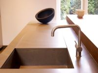 Detail of contemporary kitchen sink