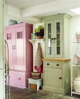 Colourful kitchen cupboards