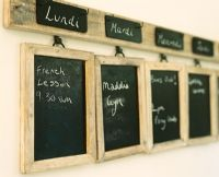 Blackboards in kitchen