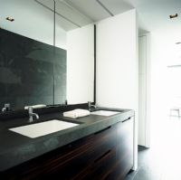 Modern sinks in bathroom