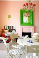 Colourful kitchen and dining room