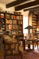 Classic country reading room and library